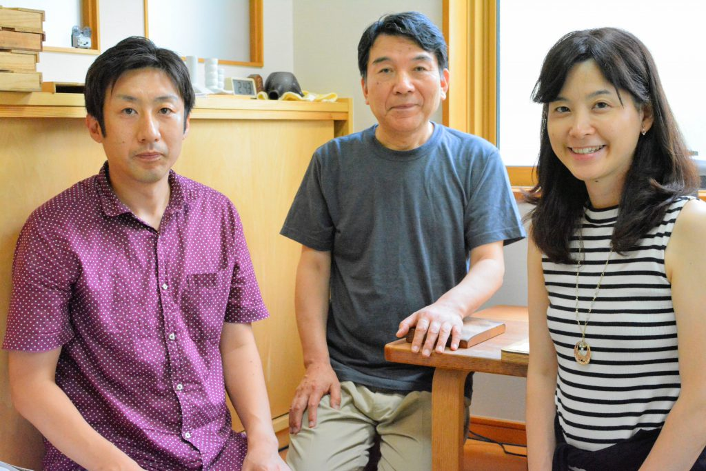 I interviewed with Mr. Kazuo Sakurai, Kikusui-san and Mr. Ryou Sakurai, Tousui-san.