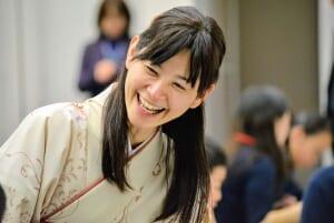Professional Shogi players dress in Kimono to entertain audience.